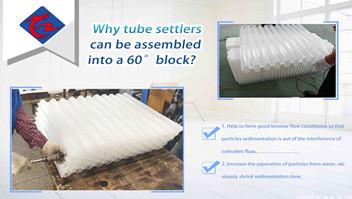 Why tube settlers can be assembled into a 60°block?