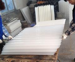 How to make lamella tube settler module into 60 degree slope?