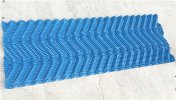 S shape wave fills for frp cooling tower